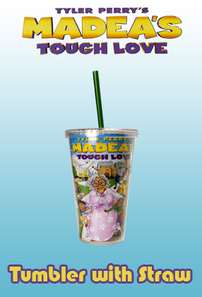 Madea's Tough Love: Tumbler with Straw